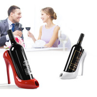 Wholesale High Heel Bottle - High Heel Shoe Wine Bottle Holder Shoes Design Silicone Wine Bottle Holder Rack Shelf for Home Party Restaurant ZA2751