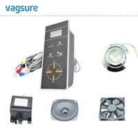 black shower panel - A508T hot sale black LCD display radio shower control panel shower room spare parts accessories