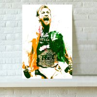 Wholesale HD Printed Sports Art Oil Painting Home Decoration Wall Art on Canvas Conor McGregor UFC x24inch
