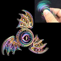Wholesale Toy Metal Fish - Metal Fidget spinner Zinc alloy Flying fish EDC Hand Spinner Magic eye hand spinners bats Metal Stress three wings spinner OTH457