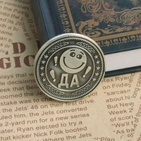 Wholesale People Cartoon Drawings - Gold Plated Coin Cartoon Smile Het Face Commemorative Coin Art Collection Gift-Y102