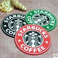 Wholesale Hot Silicone Coasters Cup Cushion Holder Starbucks sea maid coffee Coasters Cup Mat