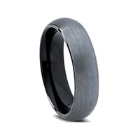Wholesale Red Onyx Ring Gold - Fashion Jewelry Rings All black plated tungsten ring with brushed finish dome band ring tungsten ring