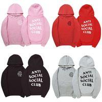 Wholesale Designer Hoodies Wholesale - Hoodies for Men Pink Fashion Hip Hop Clothing Sweatshirt Designer Kanye Anti Social Social Club Brand Clothes