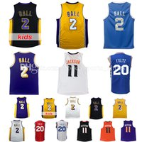 Wholesale Ball Dryer - cheap 2017-2018 men new adult kids Lonzo Ball jersey 11 Josh Jackson 20 Markelle Fultz 100% stitched basketball jerseys fast free shipping