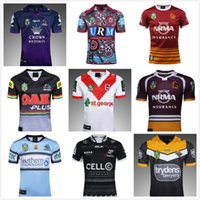 Wholesale Tiger Dragon - 2017 Manly Haiying Wests Tigers Panthera navy rugby jerseys wild horse SHARKS Melbourne Storm Dragons St George rugby shirts Size S-3XL