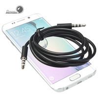 câbles noirs de 3,5 mm achat en gros de-3.5mm Jack AUX Auxiliaire Mâle à Mâle Câble Audio Stéréo pour PC pour Bluetooth Haut-Parleur Téléphone Portable DVD MP3 Voiture Noir et blanc