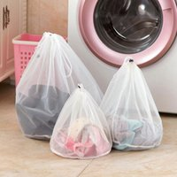 Wholesale 1 sizes Mesh Laundry Wash Bags Foldable Delicates Lingerie Bra Socks Underwear Washing Machine Clothes Protection Net