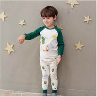 Wholesale Boys Pajamas 18 Months - Baby Outfits New Autumn Cartoon Boys Clothing Sets Fox Long Sleeve T-shirt + Long Pants 2pcs Suits Toddler Casual Pajamas Set C1653