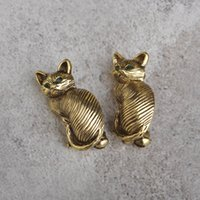 Wholesale Lucky Cats For Sale - Bulk Sale Vintage Cat Brooch Emerald Eye Lucky Animal Brooches For Women Girls Gold Plated Clip Pin Sweater Broche Mujer Bijoux