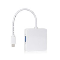 Wholesale thunderbolt vga cable - S5Q Premium Thunderbolt Mini DP To DVI VGA HDMI 3 In 1 Adapter Cable For MacBook AAAGQL