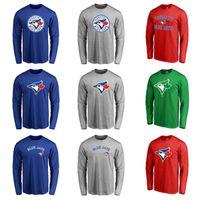 Wholesale Big Tall Men Shirts - Cheap New Men and Women Toronto Blue Jays Fanatics Branded Royal Big & Tall Primary Logo Long Sleeve T-Shirt Free shipping