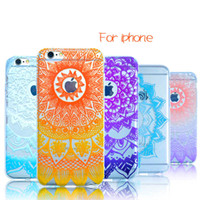 Wholesale Clear Flower Iphone Case - for iPhone7 iPhone 5s 6 6s 7 Plus Cases TPU Clear Cellphone Covers Transparent Fashion Flower Cell Phone Accessories