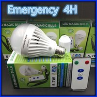 Wholesale Rechargeable Magic Bulb Emergency Bulb With Remote H Emergency time AC85 V W SMD2835 E27 B22