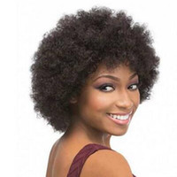 Wholesale Hair Style Afro - Top Quality Afro kinky curly wig simulation human hair wig short bob style full wig for black women