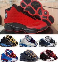 Wholesale Lowest Price Men S Shoes - Cheap Price Retro XIII 13 CP3 Basketball Men Shoes Retro 13s Black Orion Blue Sunstone Athletics Sneakers Sports shoe Retro 13's Traine