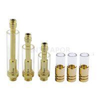 Wholesale Pyrex Kit - 510 thread Gold Stainless cartridge Pyrex Glass Thick oil Tank BUD Touch Cartridge O Vape Pen Kits-int03