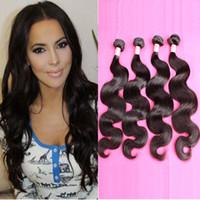 boyalı insan saç örgüsü toptan satış-Bella Hair® 4 adet / grup 11A İnsan Saç Demeti Brezilyalı Hint Malezya Perulu İşlenmemiş İnsan Saç Örgüleri Vücut Dalga 613 için boyanmış olabilir