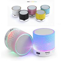 Wholesale Mobile Music Player - Wireles LED Mini portable S10 A9 crackle texture Bluetooth Speakers Support TF Card U disk for mobile phone Music player with retail box