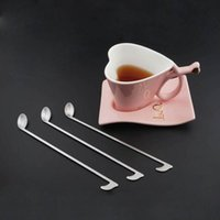 Wholesale Music Teaspoon - Music Note Stainless Steel Coffee Spoon Ice Cream Tea Coffee Cocktail Teaspoons Mixing Spoon Kitchen Accessories ZA3296