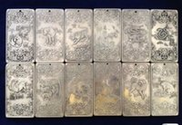 "Wholesale Tibet Silver Bullion - 12Pcs Old Chinese""Chinese Twelve Zodiac"" tibet Silver Bullion thanka amulet"