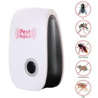 Wholesale Ultrasonic Repellent Anti Mosquito - Home Electronic Ultrasonic Rat Mouse Repellent Anti Mosquito Insect Pest Reject Mouse Killer US EU Standard Plug CCA6690 100pcs