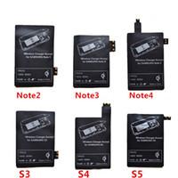 qi alıcı usb toptan satış-Qi Şarj Alıcısı Için Kablosuz Şarj Adaptörü Alıcı Alıcıları Pad Coil Samsung Galaxy S3 S4 S5 Not 2 3 4 Mikro USB cep