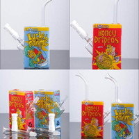 Wholesale Liquid Smoke Juice - New Arrival Liquid Glass Bong Real Picture Types Brand Liquid Sci Ce Juice Box With Ceramic Vapor Dome 14.4mm Oil Dab Rig Smoking Hookahs