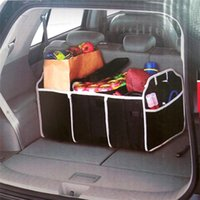 Wholesale Cargo Box Storage - Collapsible Black Car Trunk Organizer Toys Food Storage Truck Cargo Container Bags Box Car Stowing Styling Auto Accessories
