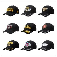 Wholesale Marines Sports - The US Army Caps Cotton Adjustable Sports Military Hats The 101th D82 Airborne Blackwater Security Guards Coast Guard Marine Corps Navy Seal