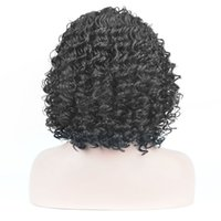 Wholesale Styled Wigs Curls - L-Parting Black Wig African Women's style Afro Kinky Curly Curls Short Wigs