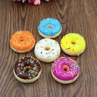 5CM New Kids Toys Colorful Donut Squishy Donuts Bread Strap Décoration Toy Gifts Vente en gros Squishies expédition au hasard