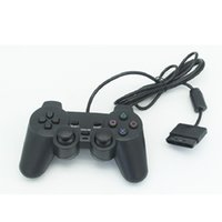 Wholesale Ps2 Controller Wired - Hot selling Wired Controller For PS2 Double Vibration Joystick Gamepad Game Controller For Playstation 2 WA2382