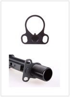 Wholesale Ar Sling Plate - Hunting AR End Plate Oval Dual Loop Sling Adapter Right   Left Handed Mount Hunting Gun Accessories