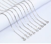 Wholesale Seeds Words - S925 Silver Necklace Jewelry Box&Snake&Melon Seed&Gold Water Wave & O Word Chain For Collarbone Pendant Men And Women Charms Accessories