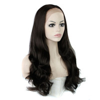 Wholesale synthetic wigs for sale - Synthetic Lace Front Wigs Big Wavy Black Bonde inch Heat Resistant Synthetic Hair Wigs Customized Your Style