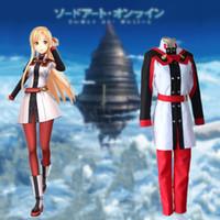 asuna yuuki cosplay kostüm großhandel-Yuuki Asuna Cosplay Kostüme japanische Anime Schwert Art Online Der Film Ordinale Skala Kleidung Maskerade / Mardi Gras / Karneval Kostüme
