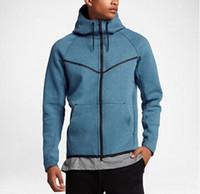 Wholesale Fleece Knit Jacket - New quality Classic free shipping 2018 autumn and winter large men's HOODIE SPORTSWEAR TECH FLEECE WINDRUNNER fashion leisure sports jacket