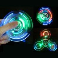 Wholesale Light Up Adult Toys - New arrive !2017 Light up Hand Spinners LED Bright Fidget Spinner Crystal Colorful Decompression toys for kid and Adults