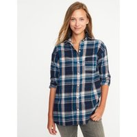 Wholesale Plaid Flannel Boyfriend Style Shirt Women s Blouse Autumn