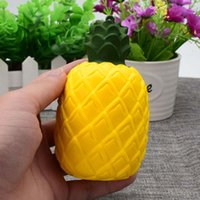 Wholesale Fruit Pendants - Kawaii Squishy pineapple slow Rising Cute Sweet fruit Charms Pendant Bread Kids Toy Gift Phone Straps