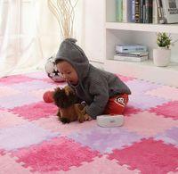 schaummatte kinder großhandel-Langes Fell Haar Puzzle Schaum Bodenmatte, Pad Baby Krabbeln Schneidebereich Teppich, spielen Teppich 30 * 30 cm für Kind, Kind Wohnzimmer, Schlafzimmer