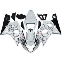 Wholesale 3 free gifts New Suzuki GSXR600 GSXR750 K4 K5 Injection ABS Plastic Motorcycle Fairing beautiful white black v77