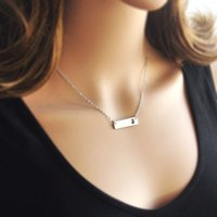 New Jersey Bar Necklace Cut Out Colar do mapa Alloy State Necklace Map Charm Pride Mapa grossista pandent