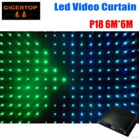 P18 6M * 6M Fire Proof LED Video Curtain с вкл / выкл Line Controller для DJ Свадебные фоны 90V-240V Tricolor Light Curtain PC SD Card режим