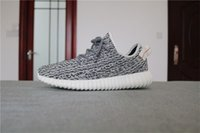 Wholesale Large Red Bowl - 2016 350 Boost New Men Mesh Sneakers running shoes black pirate Kanye West Oxford Tan 350 boosts athletic basketball shoes large size (36-46