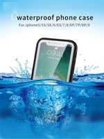 Wholesale Dust Proof Screen Touch - IPX6 Grade Waterproof Protection Case TPU+PC Full Cover Frosted Dust And Shock Proof Phone Case Touch Screen For Iphone X, 8 Plus, 8