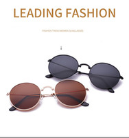 круглые складывающиеся солнцезащитные очки оптовых-Высокое качество бренд дизайнер солнцезащитные очки для мужчин и женщин Спорт на открытом воздухе металл ослепить цвет круглый складной поляризованные очки с футляром
