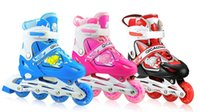 Wholesale Roller Speed Skate Wheels - 27-41 Patines 3-5-6-7-8-18 years kids Carbon Boots Inline Roller Skate Slalom Speed Skating Shoes 4 wheels blue pink red womens Patins