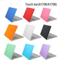macbook siyah kasası toptan satış-Kristal Mat Siyah Kılıf 2016 Yeni Macbook Pro 13 15 Için Kılıf Fit A1706 A1707 Dokunmatik Bar A1708 Dokunmatik Bar Dizüstü Kapak